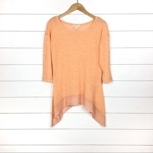 Sundance Linen Asymmetric Top Orange